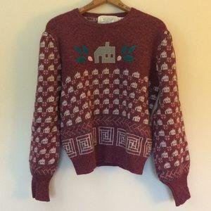 Susan Bristol Vintage Wool Embroidered Sweater 38